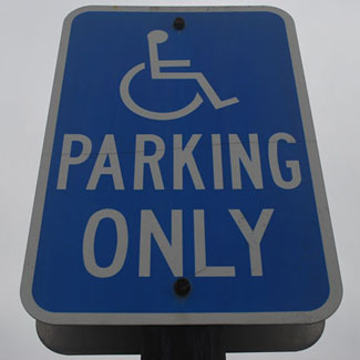 Image of Handicapped parking only sign